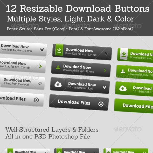 12 Download Buttons
