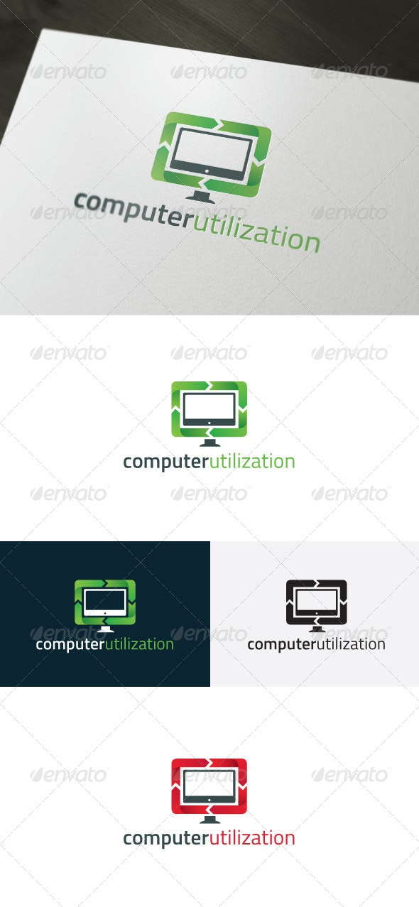 Computer Utilization Logo - Objects Logo Templates