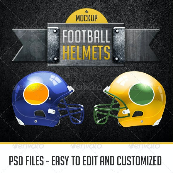 Football Helmets Layered and Editable Colors