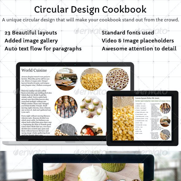 Circular Design Cookbook Template - iBooks Author