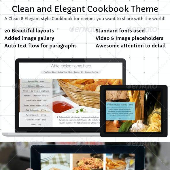 Clean and Elegant Cookbook Theme for iBooks Author