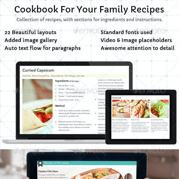 Cookbook Template for Your Family Recipes