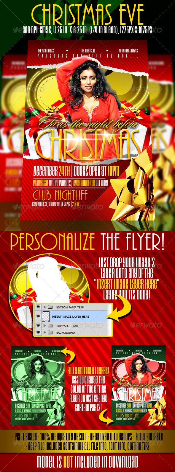 Christmas Eve Flyer template - Clubs & Parties Events