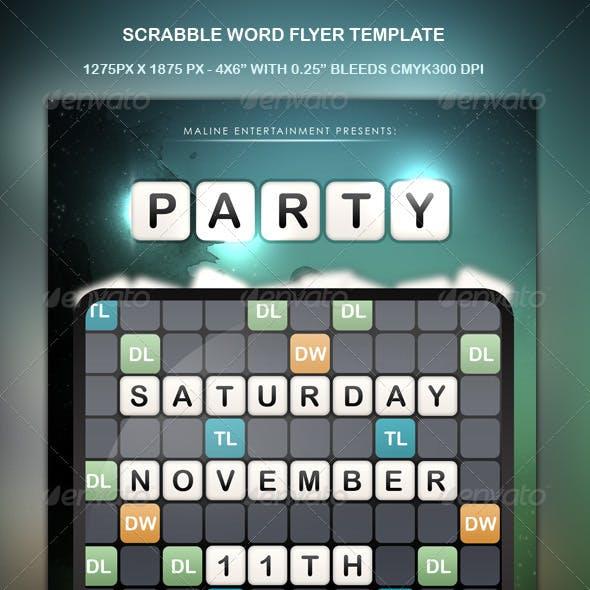 Scrabble Words Party Flyer