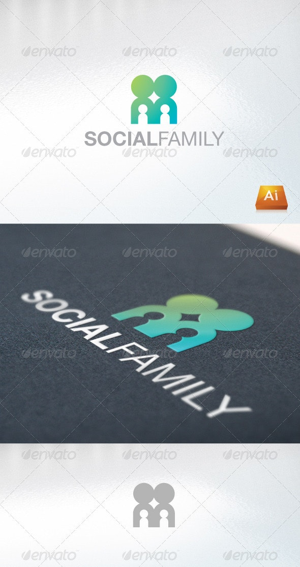 Social Family - Humans Logo Templates