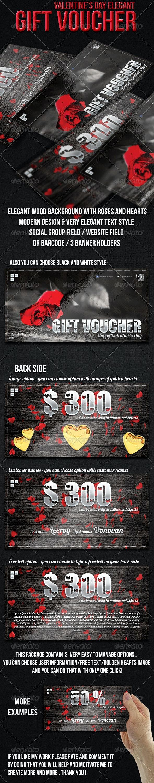 Valentine's Day Gift Voucher - Cards & Invites Print Templates
