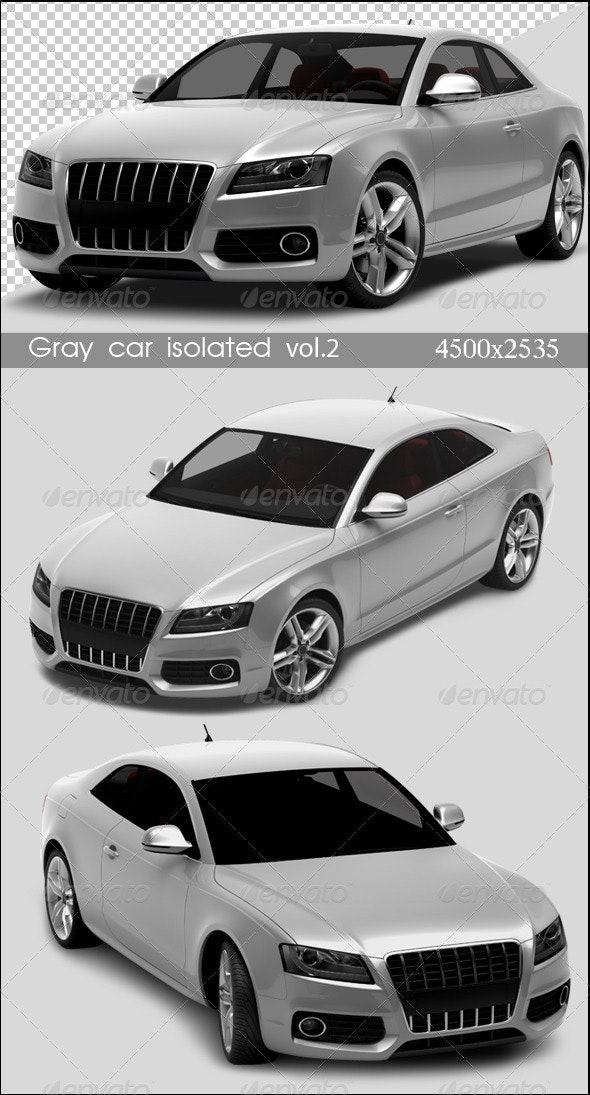 Gray Cars Isolated Vol.2 - 3D Renders Graphics