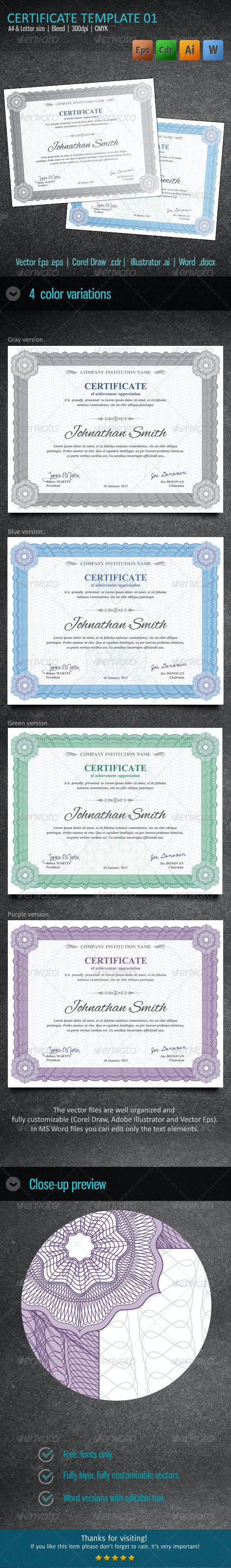 Certificate 01 - Certificates Stationery