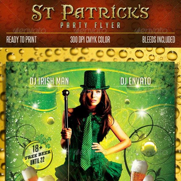 Saint Patrick Party Flyer