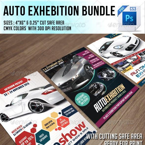 Auto Exhibition Flyer Bundle
