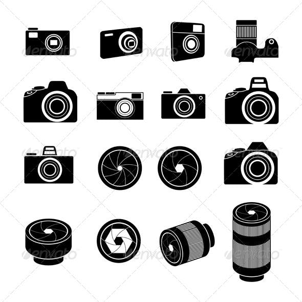 Camera Icons and Camera lens Icons
