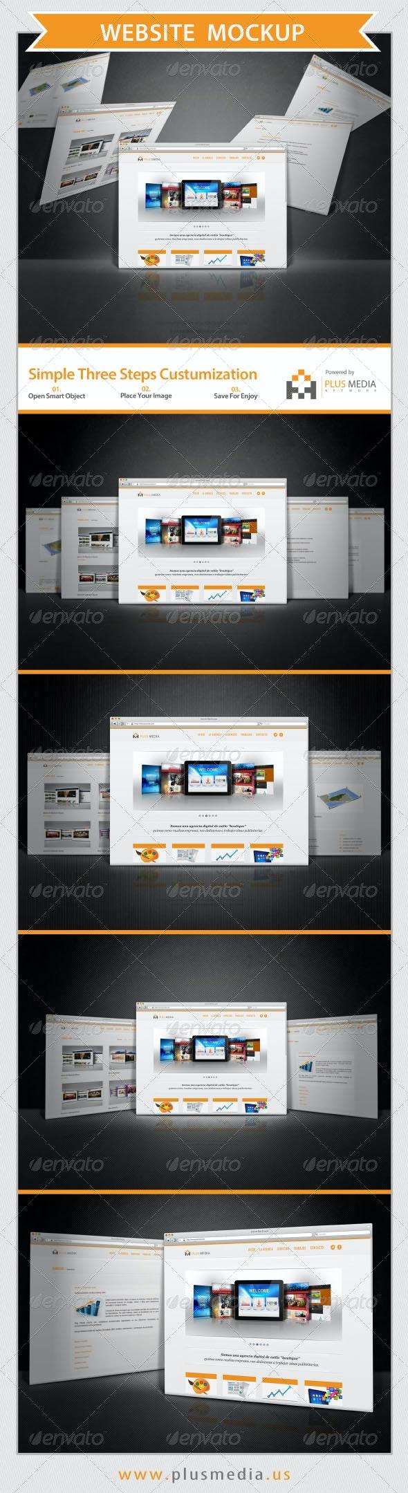 Website Mockup - Product Mock-Ups Graphics