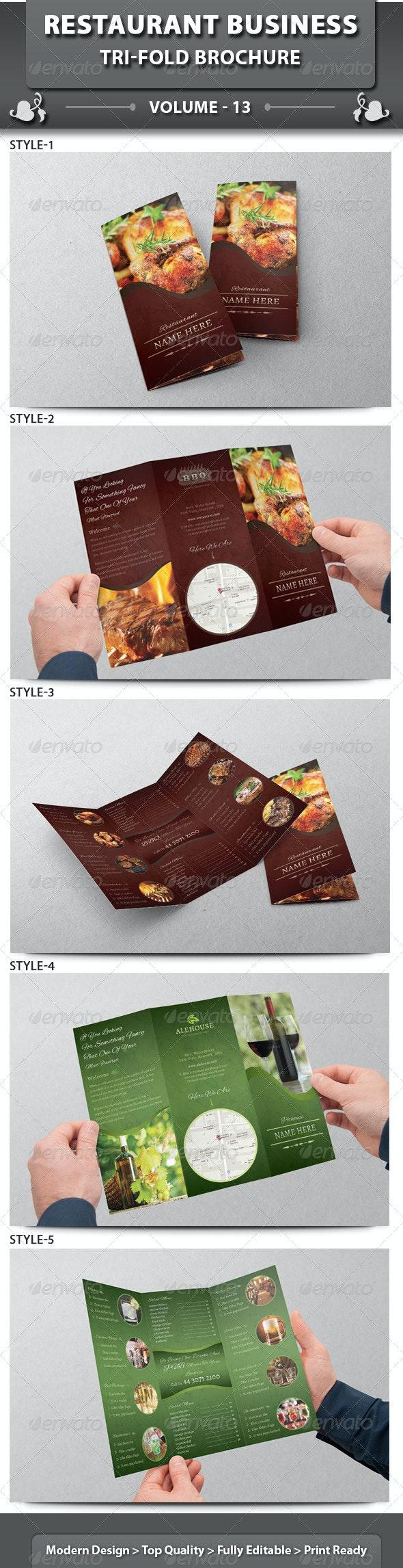 Restaurant Business Tri-fold Brochure | Volume 13 - Corporate Brochures