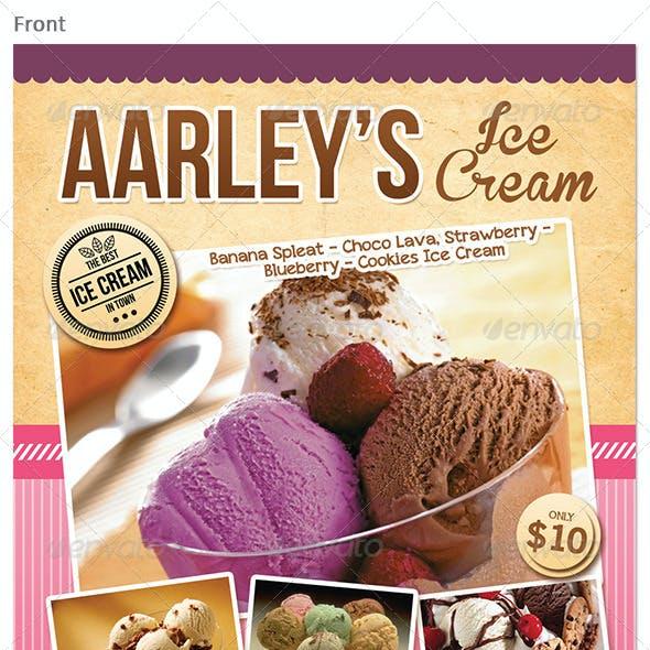 Ice Cream Menu Flyer