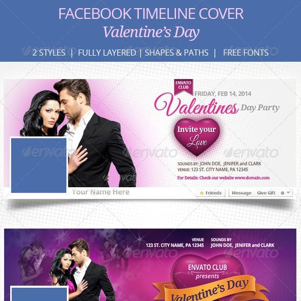 Valentines Day Facebook Timeline Cover