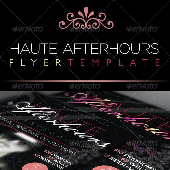 VIP Afterhours Nightclub Flyer Template - Square