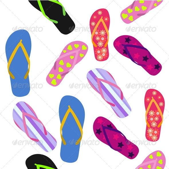Flip Flops. Summer Background - Backgrounds Decorative