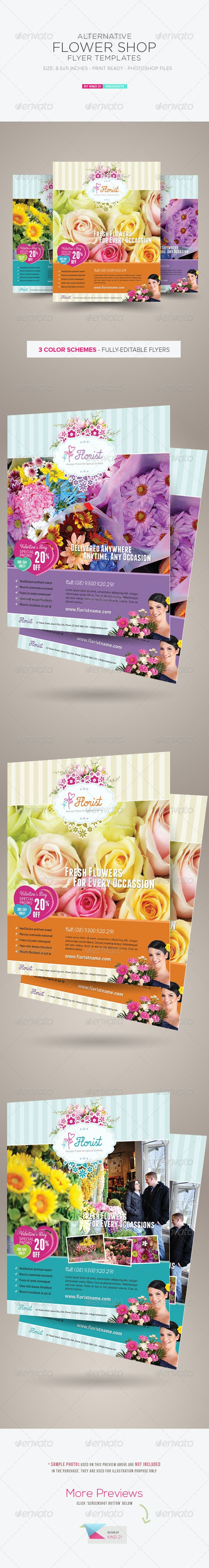 Alternative Flower Shop Flyer Templates - Corporate Flyers