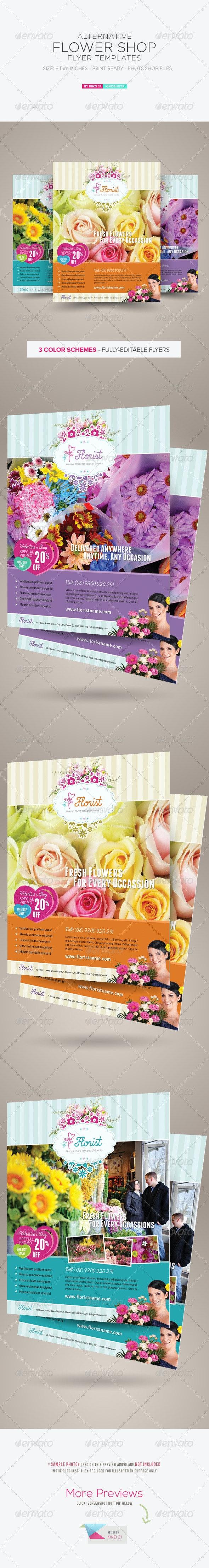 Alternative Flower Shop Flyer Templates - Corporate Flyers