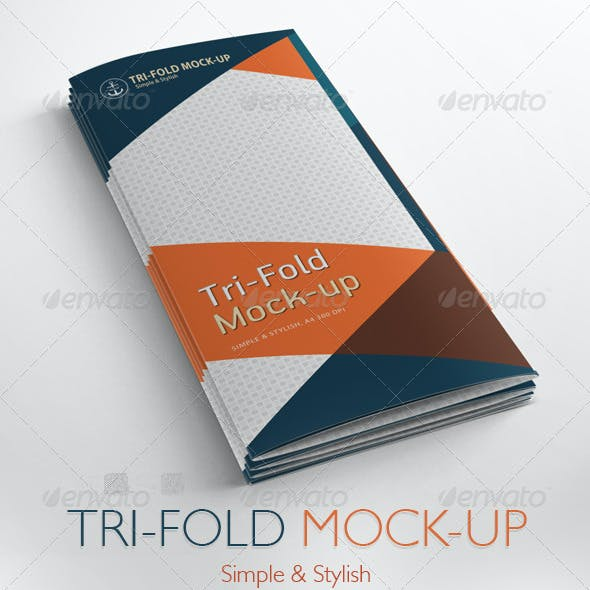 Tri-Fold Brochure Mock-up / 9 Different Images