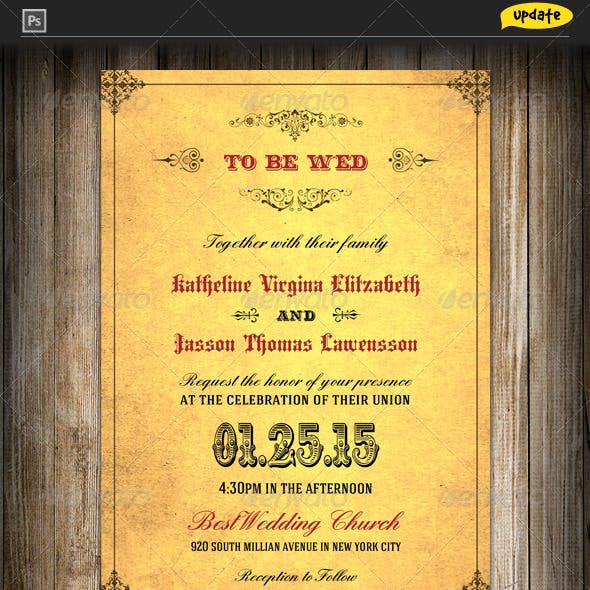 Wedding Invitation - Royal Golden