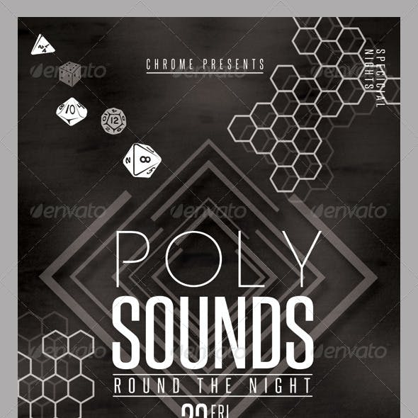 Poly Sounds Party Flyer