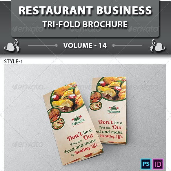 Restaurant Business Tri-fold Brochure | Volume 14