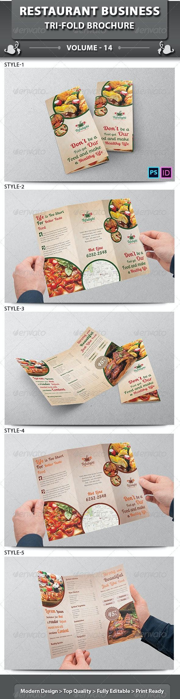 Restaurant Business Tri-fold Brochure   Volume 14 - Informational Brochures