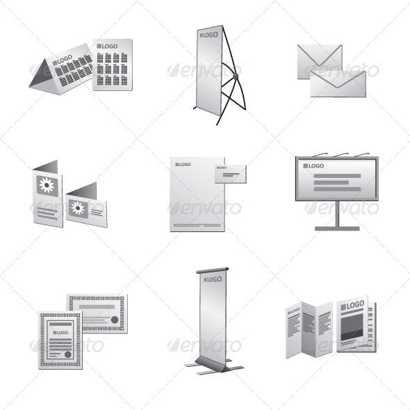 Advertising Media Icon Set