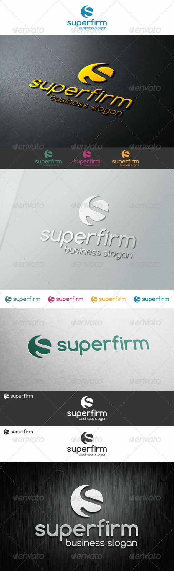 S Logo Shape - Super Firm - Letters Logo Templates