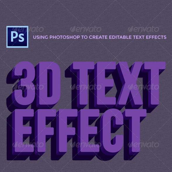 Awesome 3D Text Effect Mockup