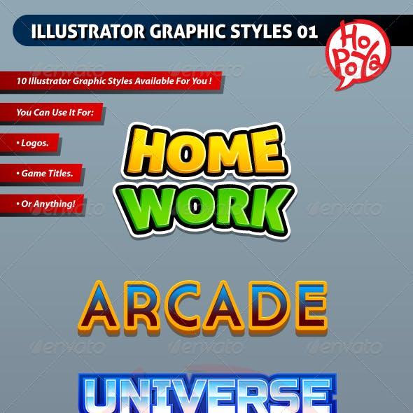 Illustrator Graphic Styles 01