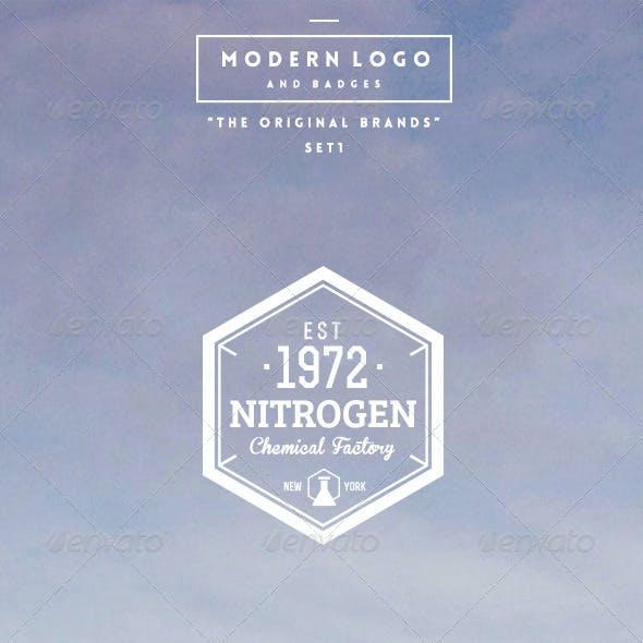 Modern Logo Badges Set 1
