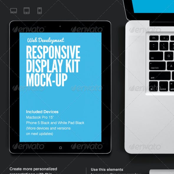 Responsive Web Display Kit Mock-Up