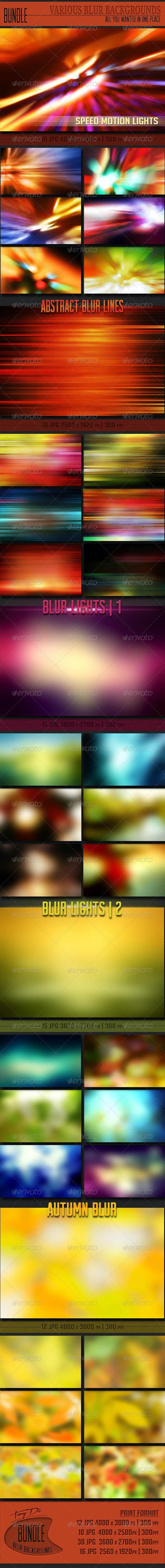 Various Blur Backgrounds Bundle - Miscellaneous Backgrounds