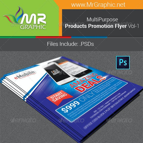 Products Promotion Flyer Vol-01