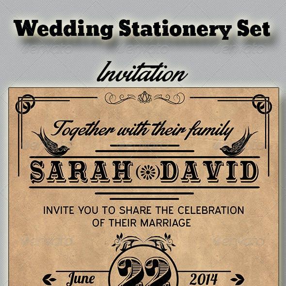Vintage Wedding Stationery Set