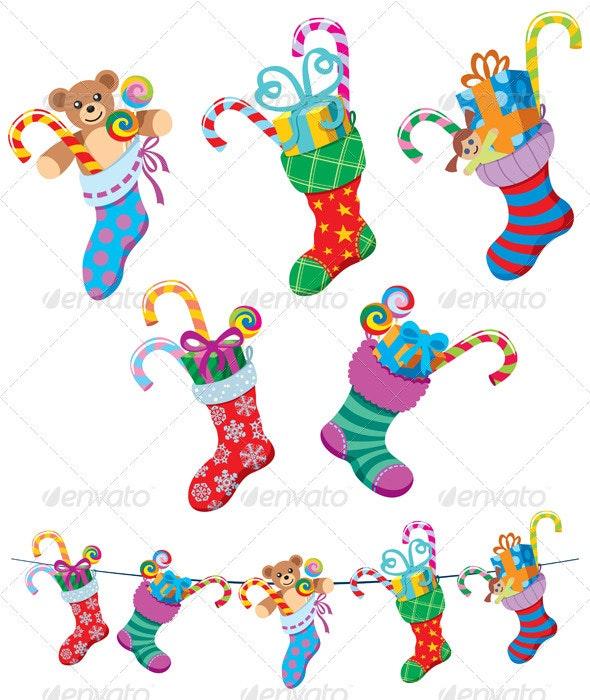 Christmas Socks - Christmas Seasons/Holidays