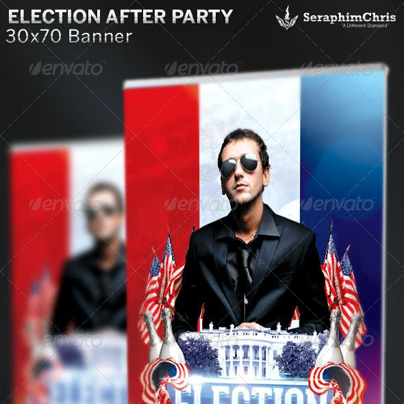 Election After Party: Banner Template