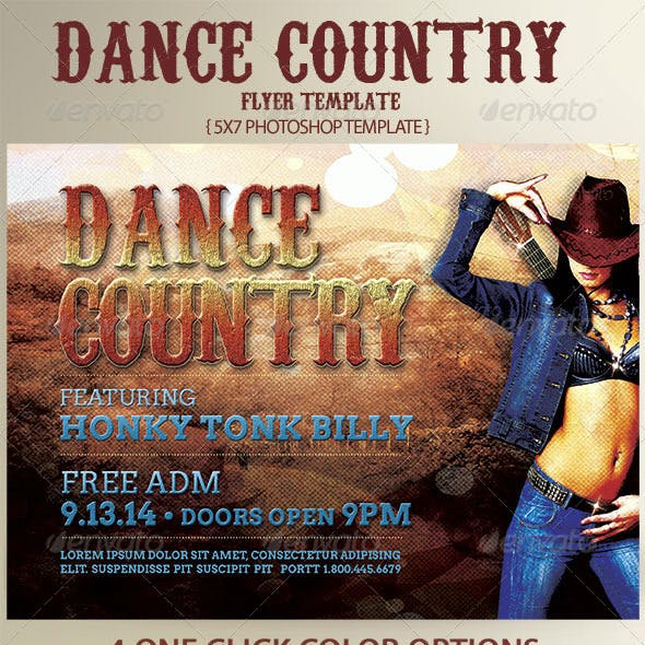 Country Dance Flyer Template