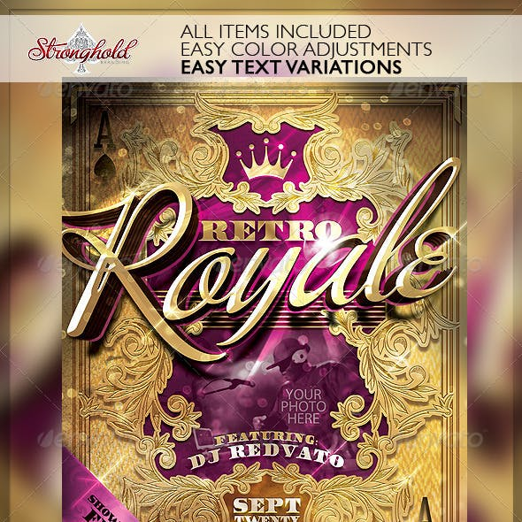 Retro Royal Club Flyer Template