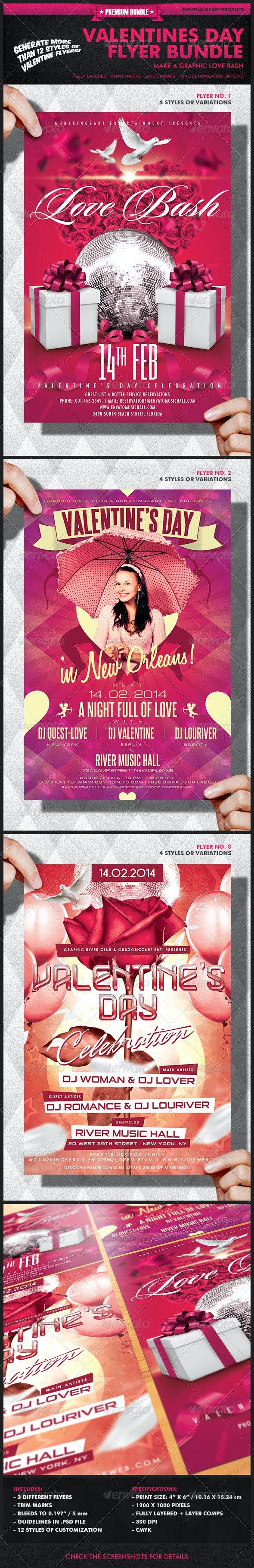 Valentines Day Flyer Bundle - Holidays Events