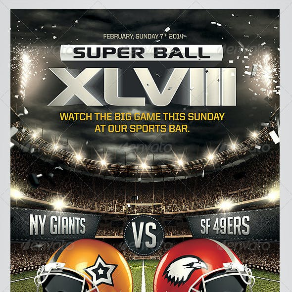Super Ball Football Flyer Template