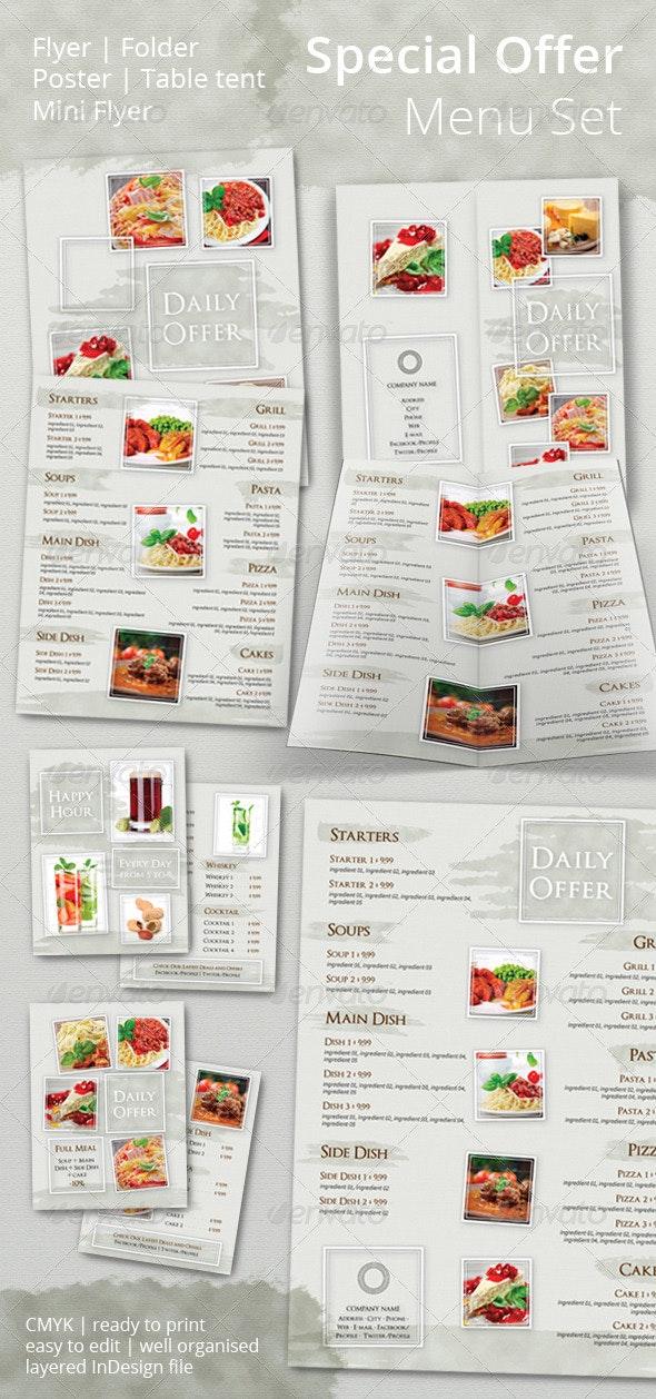 Special Offer Promotional Set - Food Menus Print Templates