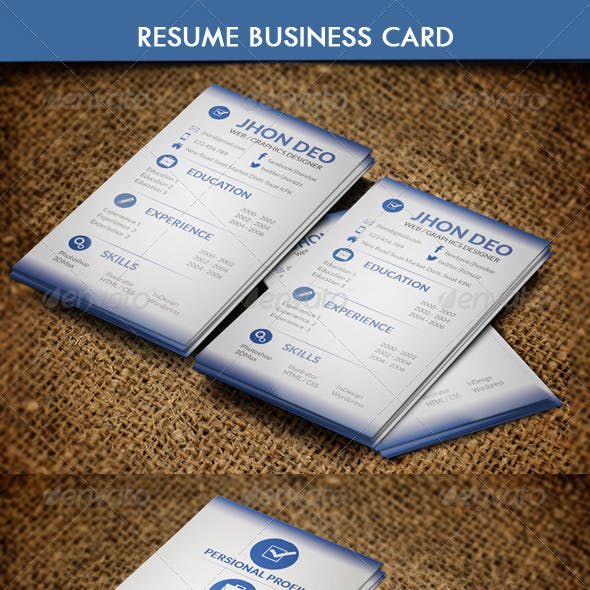 Business Card Resume Style