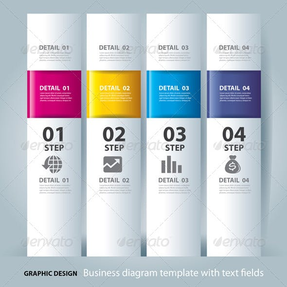 Business Step Paper Chart and Design Template