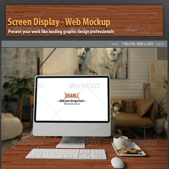 Screen Display- Web Mockup