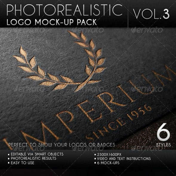 Photorealistic Logo Mock-Up Pack Vol.3
