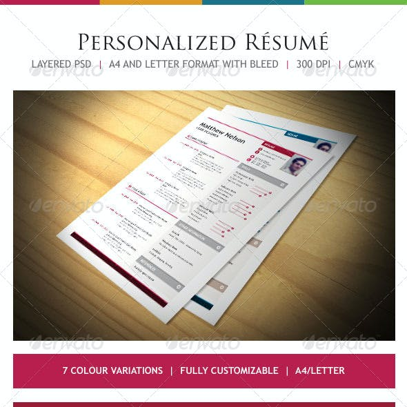 One Page Easy Resume