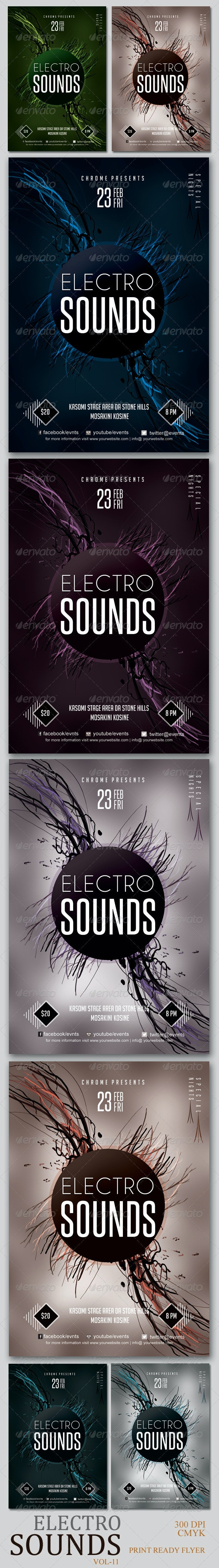 Electro Sounds Futuristic Flyer 11 - Clubs & Parties Events